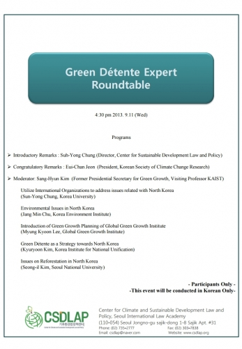 Green Detente Experts Roundtable